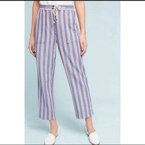 Anthropologie Elevenses Beachside Striped Pants M